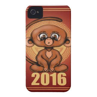 Gulligt 2016 år av apan Case-Mate iPhone 4 case