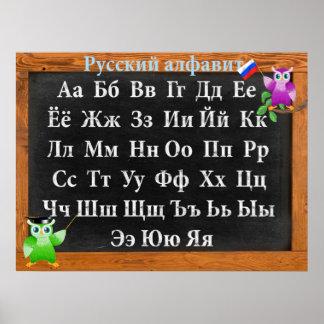 Gulligt alfabet för professorugglaryss poster