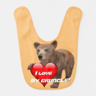 """Gulligt """"älskar jag min Gruncle!"""", med björnen Hakklapp"""