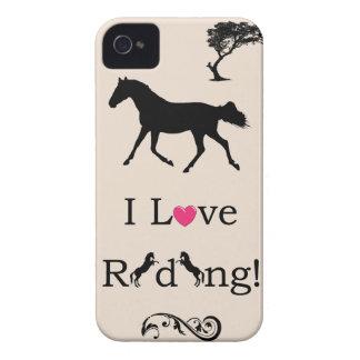 Gulligt älskar jag ridning! Rid- fodral för iPhone iPhone 4 Hud