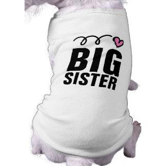 Gulligt älsklings- bekläda för storasysterhund trö långärmad hundtöja