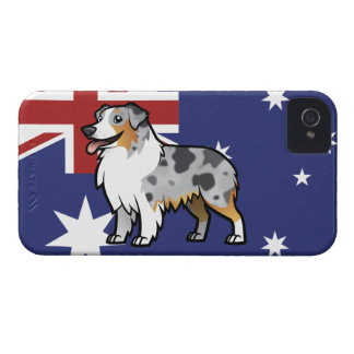 Gulligt anpassadehusdjur på landflagga iPhone 4 skal