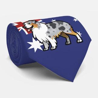 Gulligt anpassadehusdjur på landflagga slips