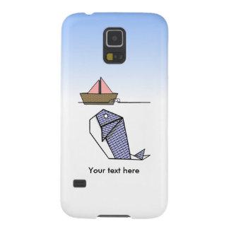 Gulligt Argyle Origami val Galaxy S5 Fodral