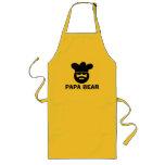 Gulligt BBQ-förkläde för pappabjörn för pappor |