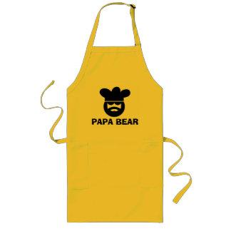Gulligt BBQ-förkläde för pappabjörn för pappor | Långt Förkläde