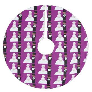 Gulligt blandat bröllop kopplar ihop julgransmatta borstad polyester