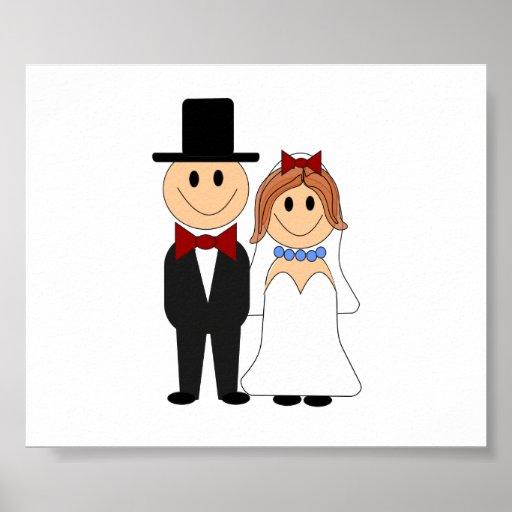 Gulligt bröllop kopplar ihop affischer