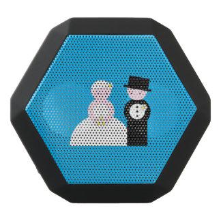 Gulligt bröllop kopplar ihop svart bluetooth högtalare