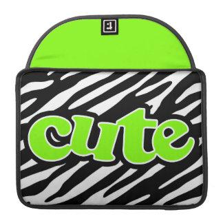 Gulligt Chartreuse grön zebra ränder för neon Sleeve För MacBook Pro