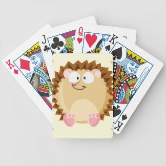 Gulligt cirkla igelkotten spelkort