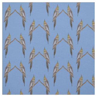 Gulligt Cockatielfrenesityg (tända - blått), Tyg