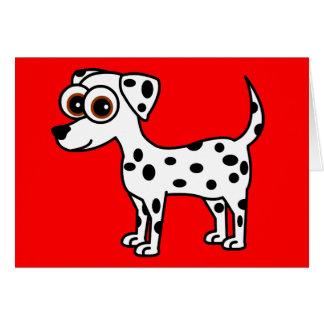 Gulligt Dalmatian tecknadhälsningkort Hälsningskort