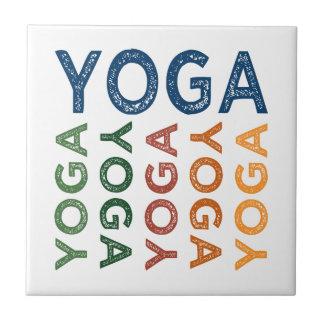 Gulligt färgrikt för Yoga Kakelplatta