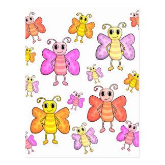 Gulligt fjärilsmönster vykort