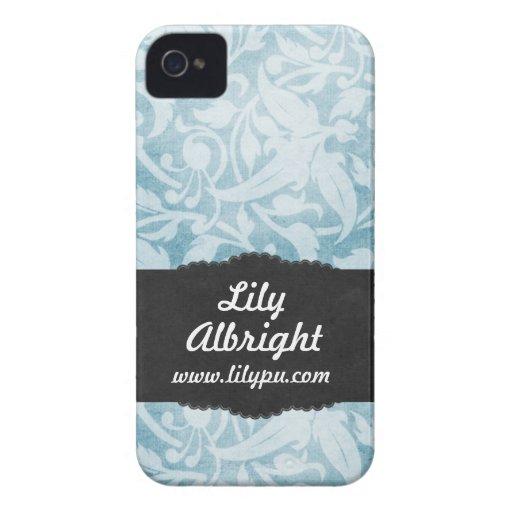 Gulligt fodral för blåttvintageblackberry bold iPhone 4 Case-Mate fodral