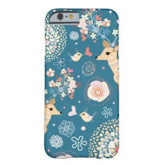 Gulligt fodral för iPhone 6, fågel, hjort Barely There iPhone 6 Skal