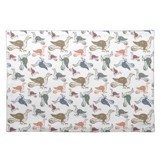 Gulligt galet fågelmönster - rolig fågeliakttagare bordstablett