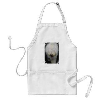 Gulligt gammalt engelskt Sheepdogförkläde Förkläde