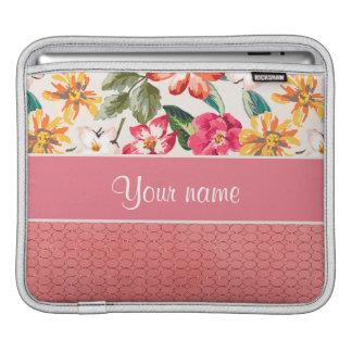 Gulligt glitter för blommaFauxrosor cirklar Sleeve För iPads