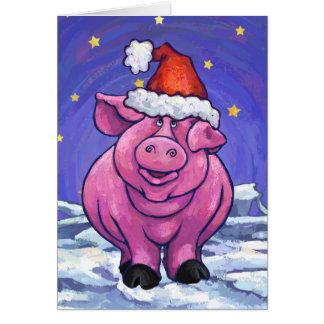 Gulligt grishelgdagkort OBS kort