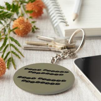 Gulligt grundläggande knäppas keychain rund nyckelring