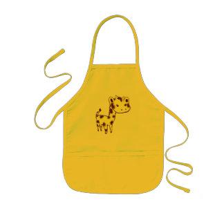 Gulligt gult giraffhantverk/matlagningförkläde barnförkläde