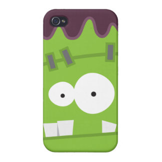 Gulligt Halloween Frankenstein gigantiskt ansikte iPhone 4 Fodral