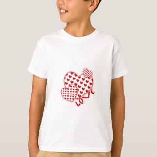 "Gulligt ""hjärtamönster"" design t-shirts"