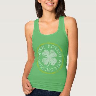 Gulligt irländskt polskt dricka lag tshirts