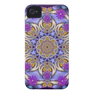 Gulligt kaleidoscope- & blommablackberry boldfodra iPhone 4 Case-Mate skal