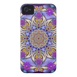 Gulligt kaleidoscope- & blommablackberry Case-Mate iPhone 4 fodral
