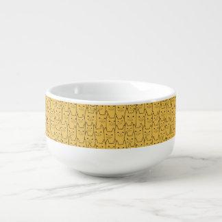 Gulligt kattmönster stor kopp för soppa