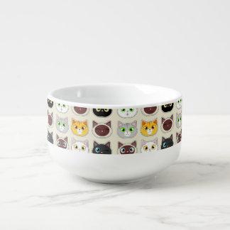 Gulligt kattmönster kopp för soppa