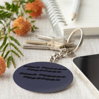 Gulligt knäppas keychain rund nyckelring