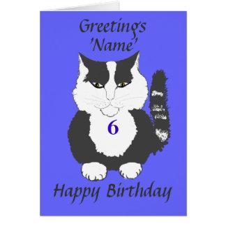 Gulligt kort för födelsedag för Maine Coonkatt