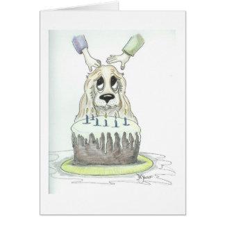 Gulligt kort för födelsedag för tecknadcockerspani