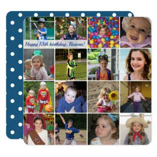 Gulligt kvadrera det beställnings- fotokortet - du fyrkantigt 13,3 cm inbjudningskort
