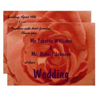 Gulligt ljust - inbjudan för bröllop för
