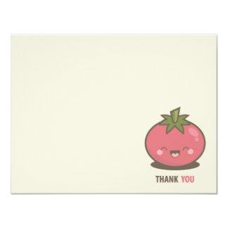 Gulligt lyckligt Kawaii tomattack 10,8 X 14 Cm Inbjudningskort