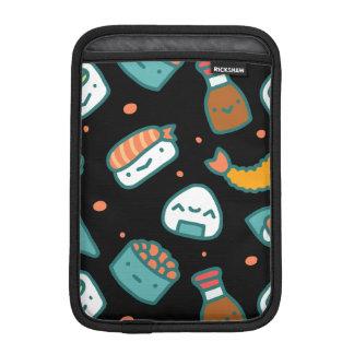 Gulligt lyckligt seamless sushimönster på svart iPad mini sleeve