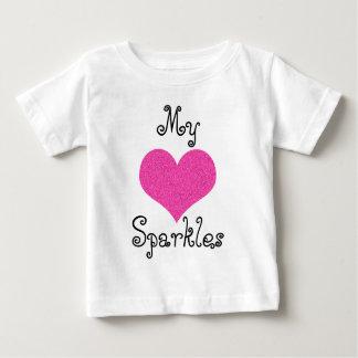 gulligt min tshirt för hjärtasparklesbebis tee