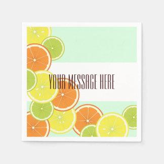Gulligt modernt sommarparty för citrusfrukter papper servett