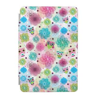 Gulligt mönster för blommaugglabakgrund iPad mini skydd
