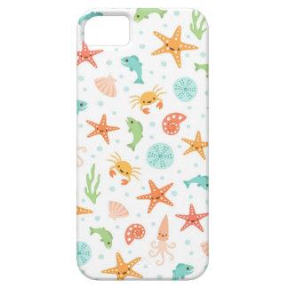 Gulligt mönster för krabba för tioarmad bläckfisk iPhone 5 Case-Mate cases