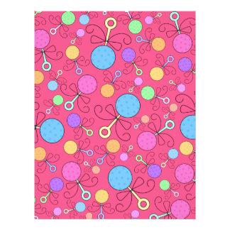 Gulligt mönster för rosabebispladder