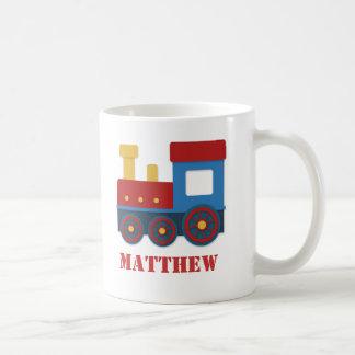 Gulligt och färgglatt tåg för pojkar kaffemugg