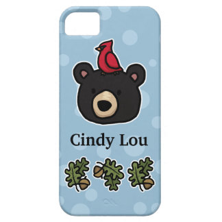 Gulligt och vänligt björnansikte, tillfogar ditt iPhone 5 fodral
