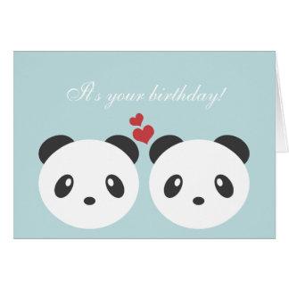 Gulligt pandafödelsedagkort hälsningskort