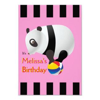 Gulligt party för Kawaii Pandarosor 8,9 X 12,7 Cm Inbjudningskort